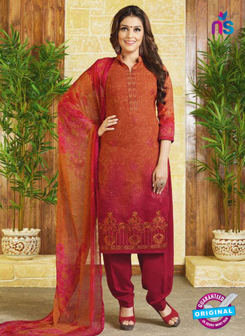 Rakhi 9012 B Orange Pashmina Winter Suit