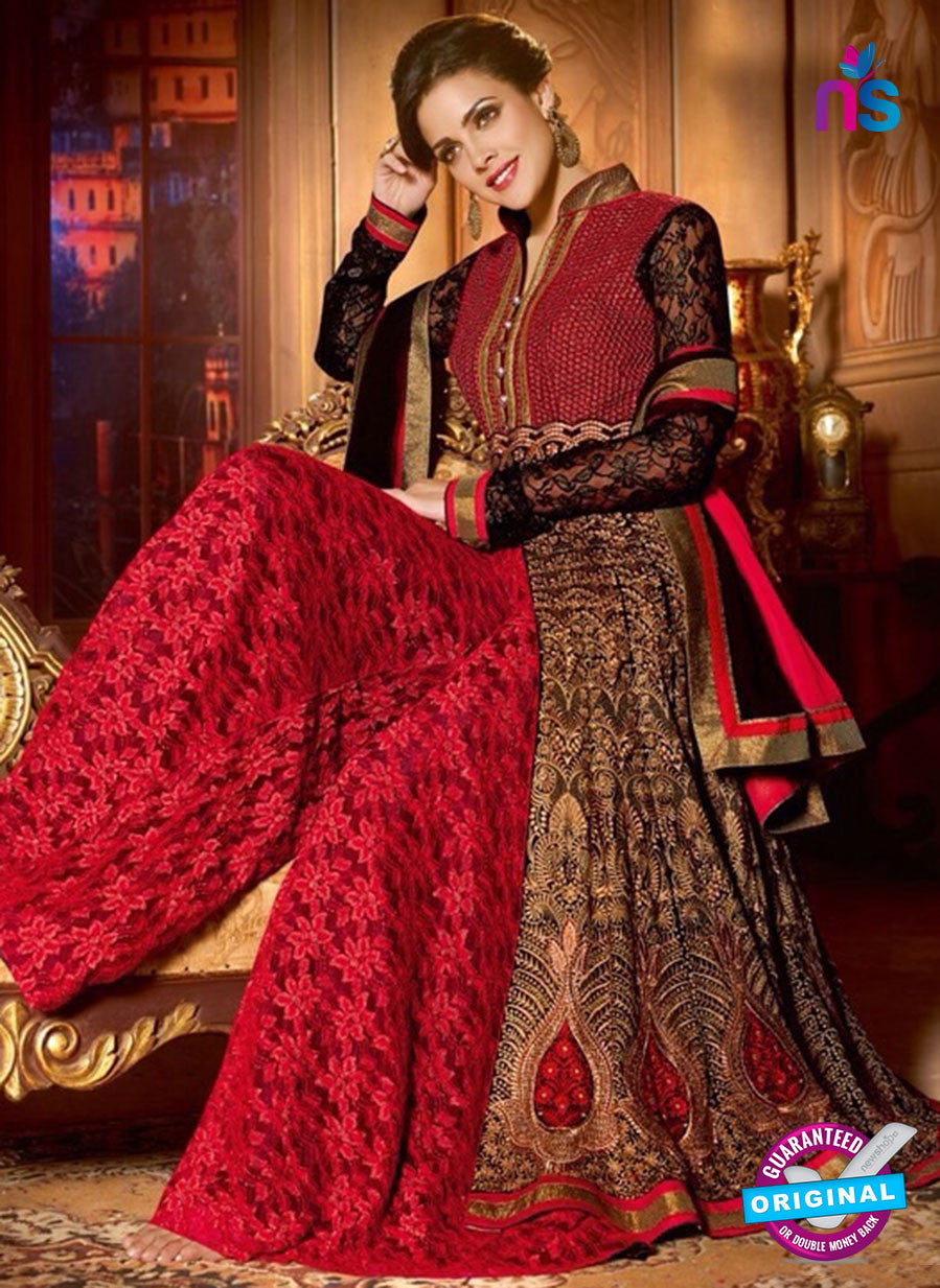 Shenoa 9013 Black Faux Georgette Pakistani Suit