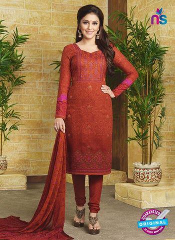 Rakhi 9015 B Brown Pashmina Winter Suit