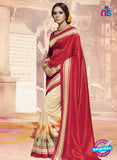NS11827  Red and Beige Bhagalpuri Silk Saree