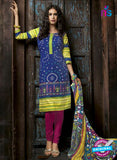 Kalakriti 901 Purple and Blue Cotton Party Wear Suit