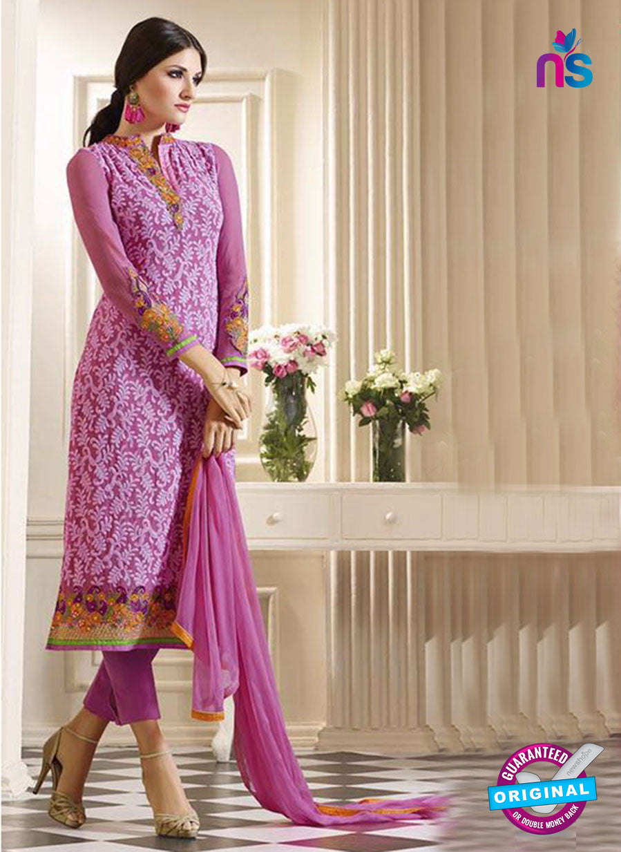 Vivek 901 Purple Color Georgette Designer Straight Suit