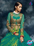 AZ 3781 Green Net Anarkali Suit