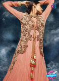 AZ 3787 Peach Silk Anarkali Suit