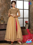 NS 12326 904 Brown and Red Party Wear Embroidered Georgette and Net Anarkali Style Designer Suit