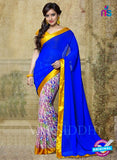 SC 13188 Blue, Yellow and Multicolor Designer Saree