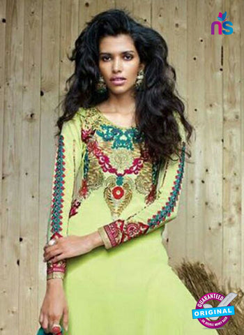 Sanskruti 9052 Green Georgette Party Wear Suit Online