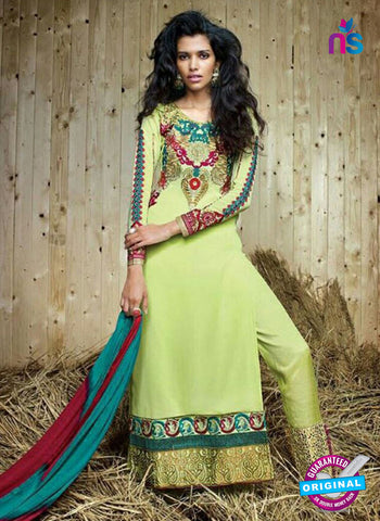 Sanskruti 9052 Green Georgette Party Wear Suit