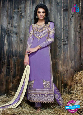 Sanskruti 9053 Purple Georgette Party Wear Suit