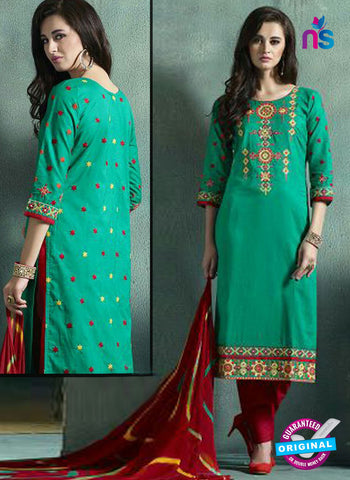 Kessi 9054 Green Printed Cotton Suit