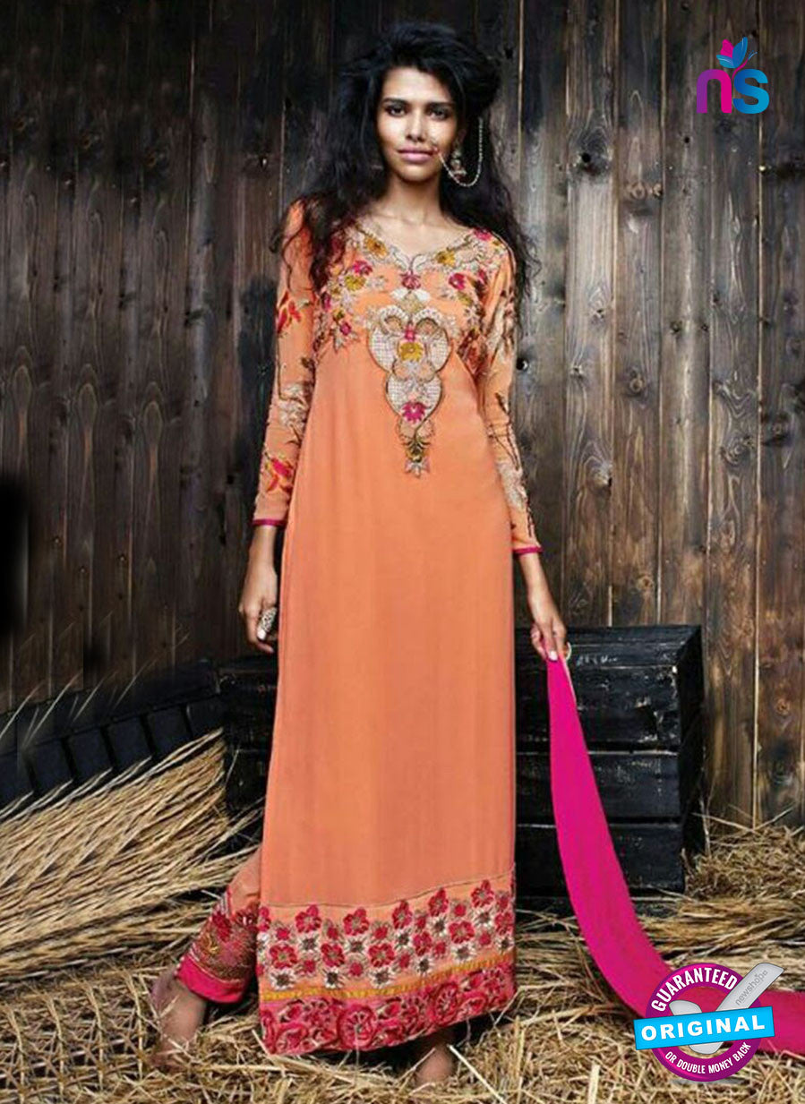 SC 14263 Orange Georgette Party Wear Suit