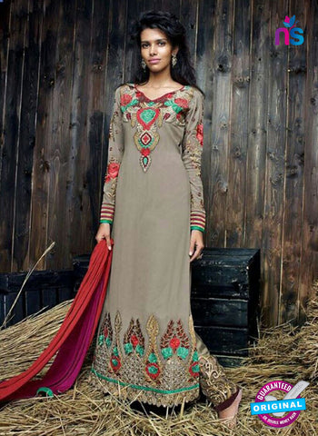 Sanskruti 9055 Grey Georgette Party Wear Suit