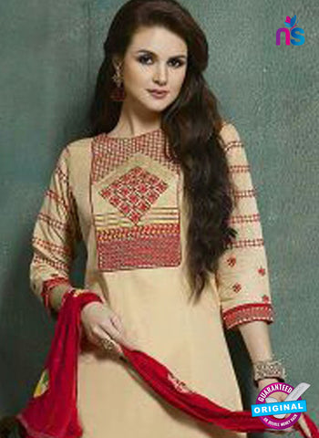 Kessi 9056 Beige Printed Cotton Suit