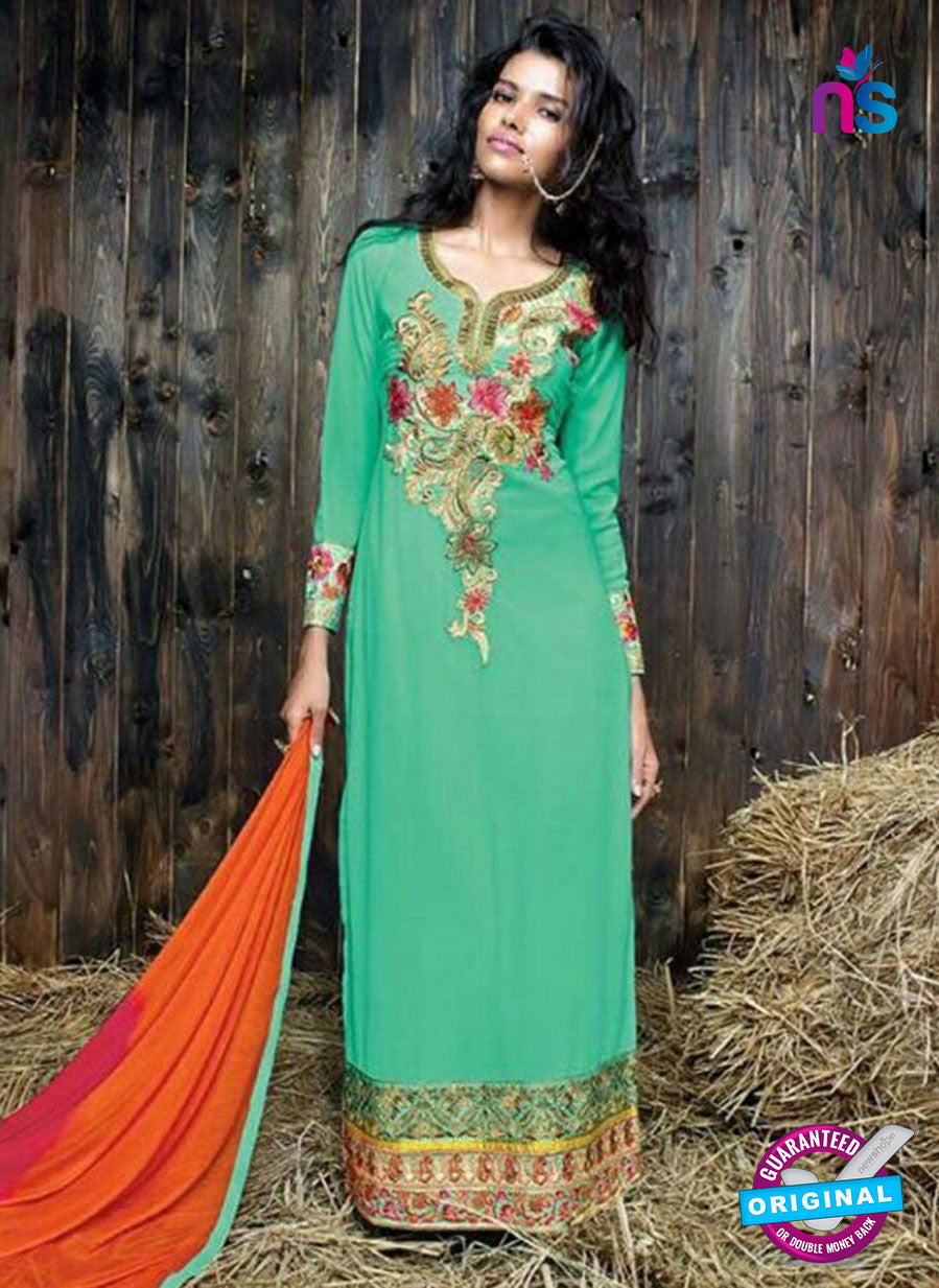 Sanskruti 9057 Sea Green Georgette Party Wear Suit