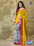 SC 13186 Yellow, White and Black Designer Saree