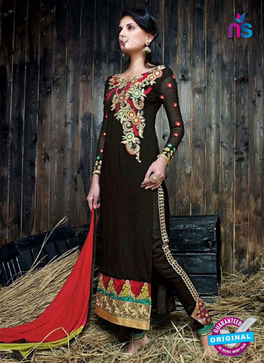SC 14268 Black Georgette Party Wear Suit