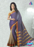NS11148 Purple and Beige Daily Wear Cotton Silk Saree