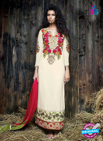 Sanskruti 9061 Beige Georgette Party Wear Suit