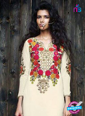 Sanskruti 9061 Beige Georgette Party Wear Suit Online