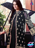 SC 13309 Black and Beige Embroidered Georgette Designer Suit Online