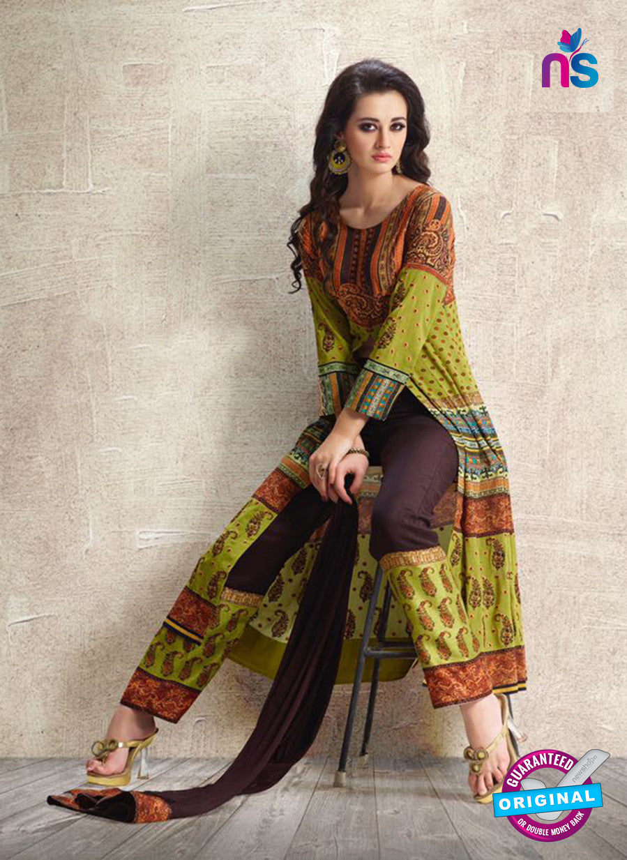 AZ 3884 Green Georgette Pakistani Suit