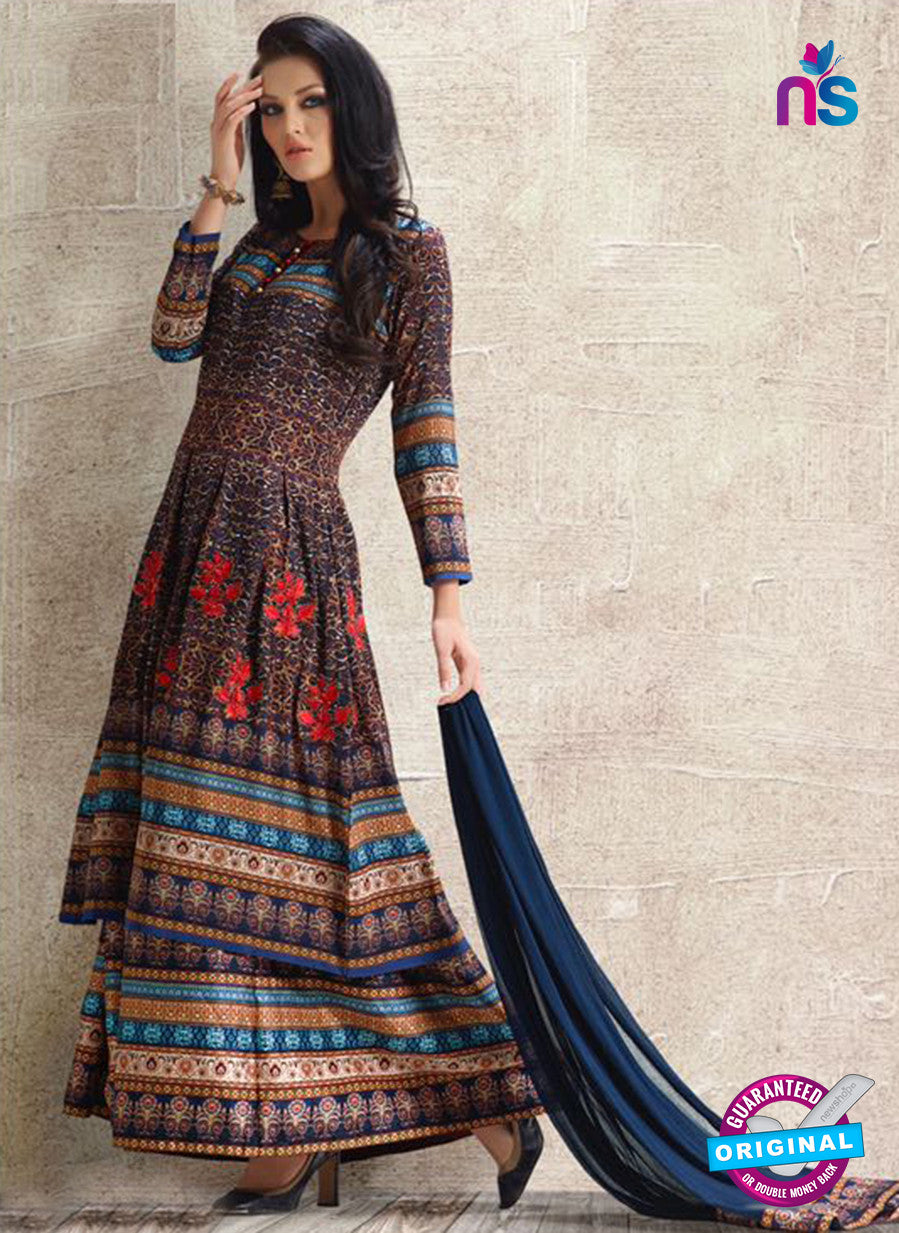 AZ 3885 Blue Georgette Pakistani Suit