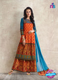 AZ 3886 Orange Georgette Pakistani Suit