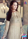 SC 13310 Beige Embroidered Georgette Designer Suit Online