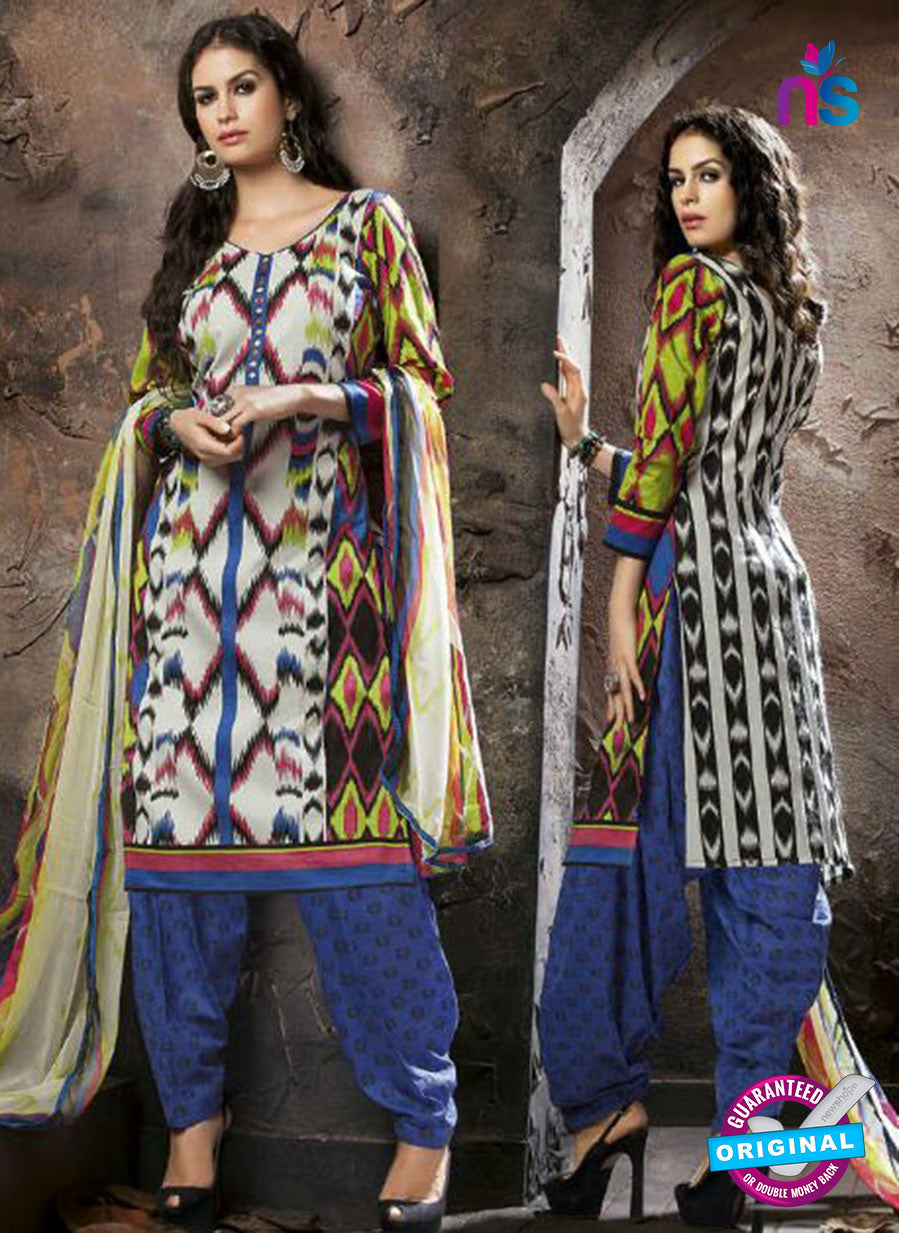 Kalakriti 907 Blue and Black Cotton Party Wear Suit
