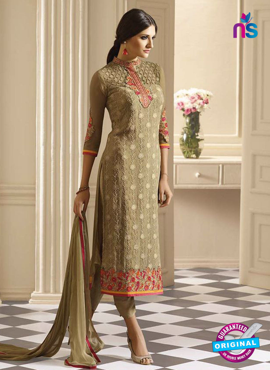 Vivek 907 Brown Color Georgette Designer Straight Suit