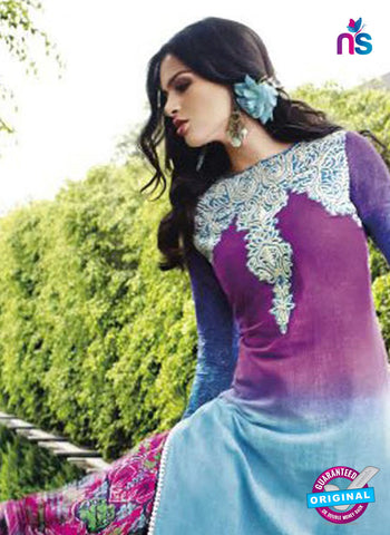 jinam 9080 A Sky Blue Cotton Satin Plazo Suit Online