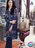 NS11088 Dark Blue Party Wear Georgette Designer Suit