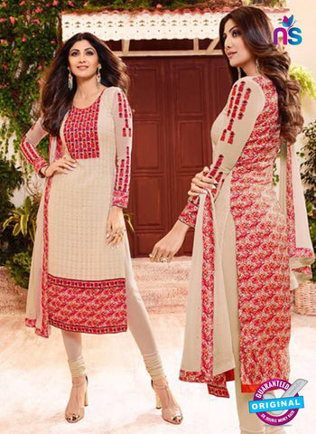AZ 3809 Beige Georgette Party Wear Suit