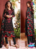 Karma 9091 Black Georgette Party Wear Suit