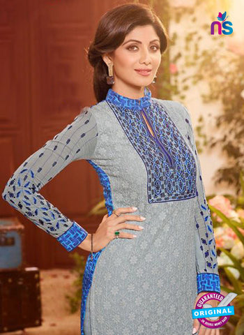 Karma 9092 Grey Georgette Party Wear Suit Online