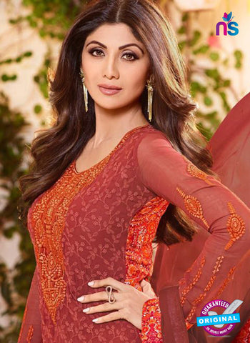 Karma 9093 Maroon Georgette Party Wear Suit Online