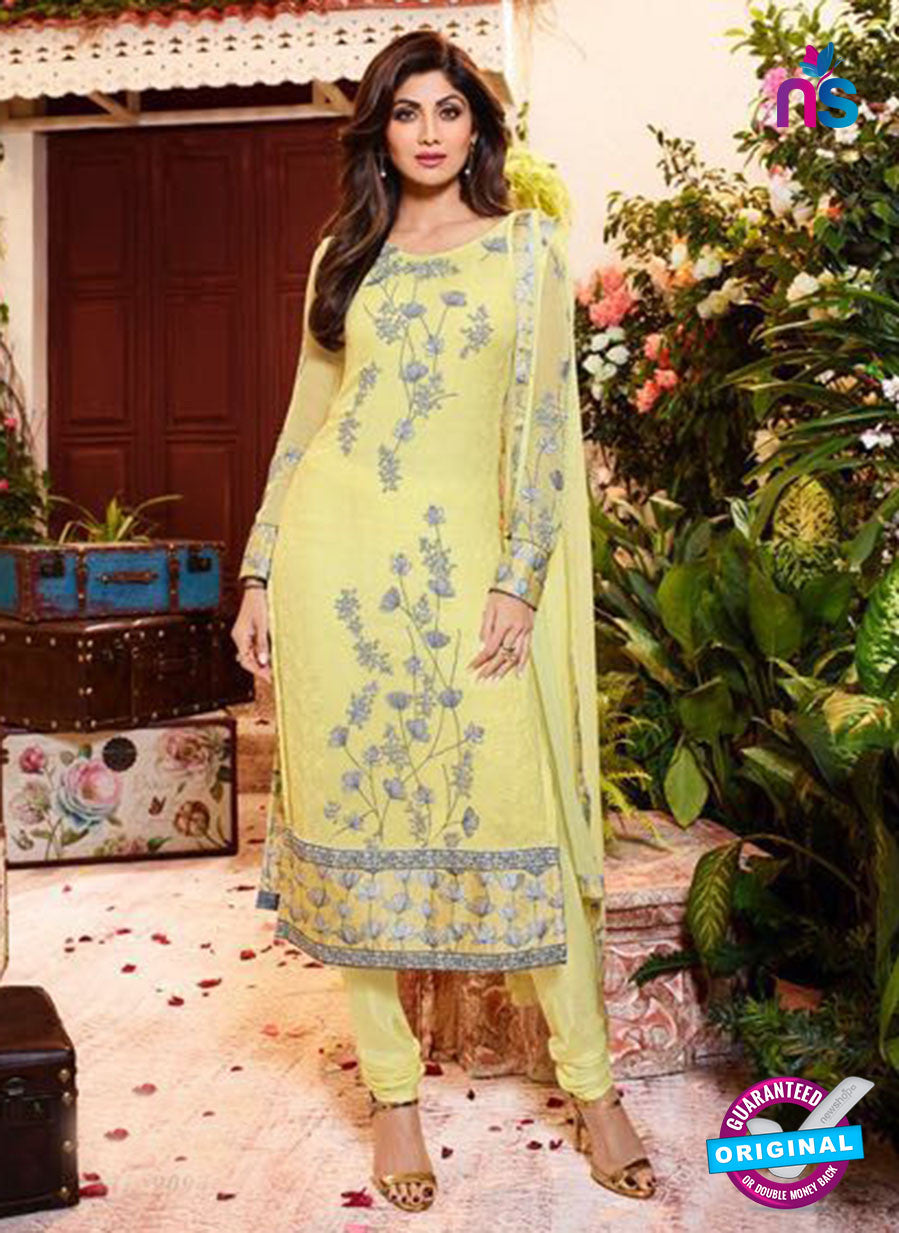 AZ 3813 Yellow Georgette Party Wear Suit