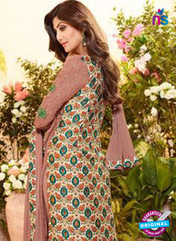 Karma 9095 Brown Georgette Party Wear Suit online