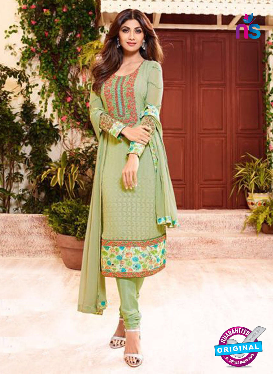 Karma 9097 Green Georgette Party Wear Suit