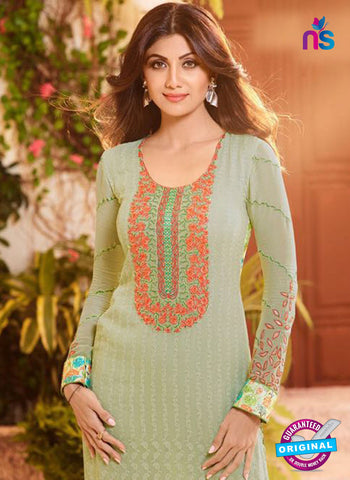 Karma 9097 Green Georgette Party Wear Suit Online