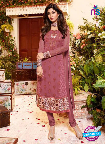 Karma 9098 Light Maroon Georgette Party Wear Suit