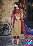 Bahni 9099-Beige and Maroon Color Cotton Designer Suit