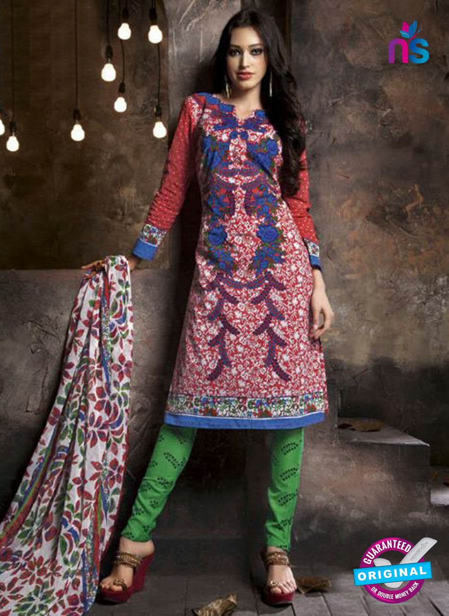 Kalakriti 909 Pink and Green Cotton Party Wear Suit