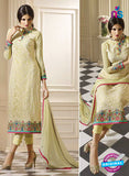 Vivek 909 Beige Color Georgette Designer Straight Suit