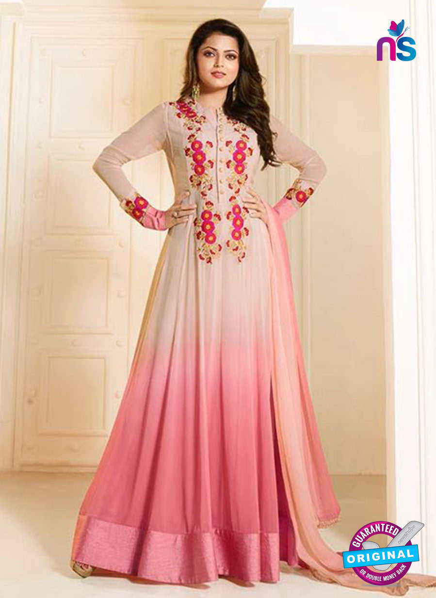 LT 91003 Beige and Pink Georgette Exclusive Function Wear Designer Gown