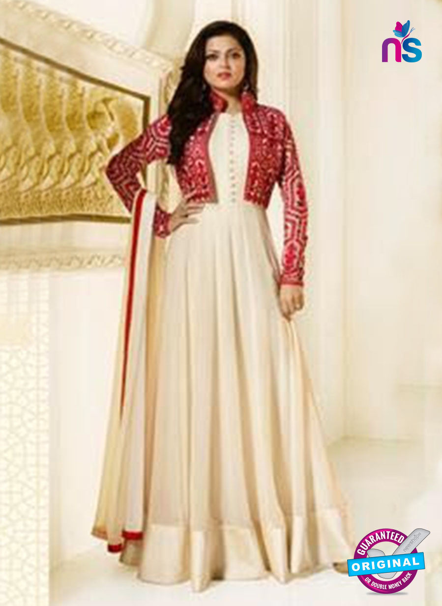 LT 91006 Beige Georgette Exclusive Function Wear Designer Gown