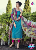Bahni 9100-Blue and Pink Color Cotton Designer Suit
