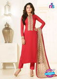 LT 91010 Red Georgette Exclusive Function Wear Designer Suit