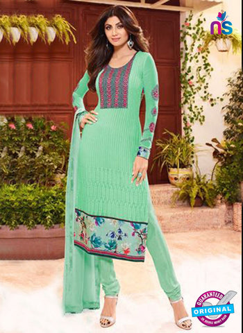 Karma 9101 Sea Green Georgette Party Wear Suit