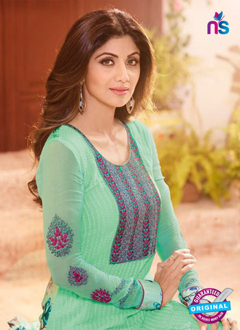 Karma 9101 Sea Green Georgette Party Wear Suit online
